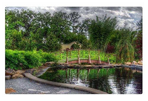 Irocket Indoor Floor Rugmat - Bridge Over Pond In A Wonderful Garden Hdr 236 X 157 Inches