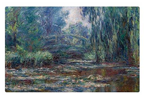 Irocket Indoor Floor Rugmat - Claude Monet - Bridge Over Water Lily Pond 236 X 157 Inches