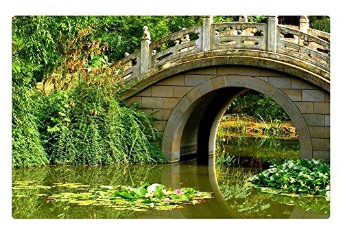Irocket Indoor Floor Rugmat - Stone Bridge Over The Pond 236 X 157 Inches
