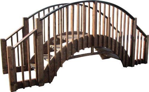 Samsgazebos 8 Japanese Wood Garden Bridge With 4 Extended Railings Treated