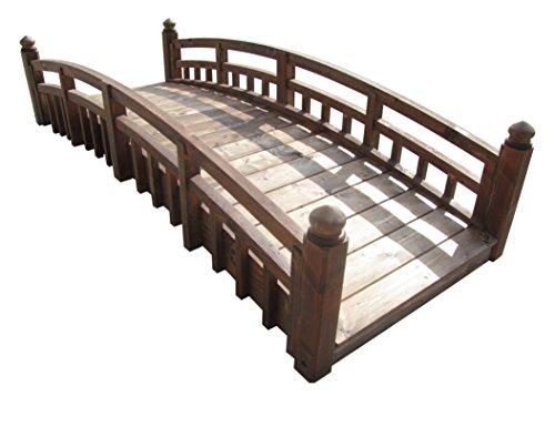 Samsgazebos Japanese Taiko Wood Garden Bridge With Finials 8 Feet Treated Made In Usa