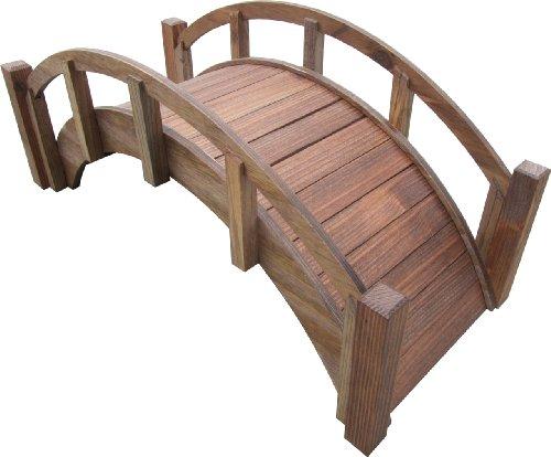 Samsgazebos Miniature Japanese Wood Garden Bridge Treated Assembled 25&quot Long X 11&quot Tall X 11-12&quot Wide Made