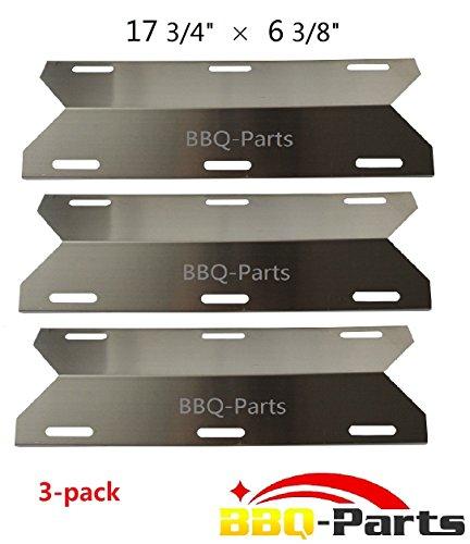 Hongso Spa231 3-pack Stainless Steel Bbq Gas Grill Heat Plate Heat Shield Heat Tent Burner Cover Vaporizor