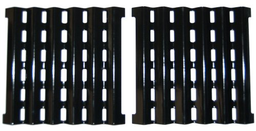 Music City Metals 90252 Porcelain Steel Heat Plate Replacement for Select Brinkmann Gas Grill Models Set of 2