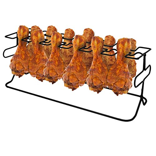 Sorbus12 Slot Leg Wing Grill Rack - Steel Multi-Purpose Non-Stick Poultry Stand - For Oven Smoker or Grill
