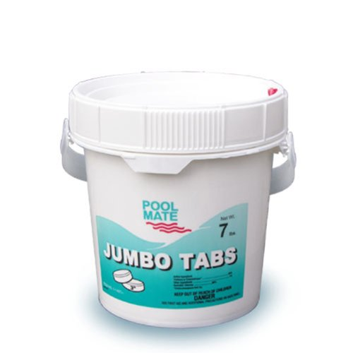 Pool Mate 1-1407 Jumbo 3-inch Chlorine Tablets 7-pound