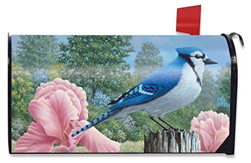 Blue Jays Spring Mailbox Cover Floral Birds Standard Briarwood Lane