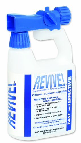 REVIVE Swimming Pool Phosphate and Algae Remover Chemical For Pools - 16 oz
