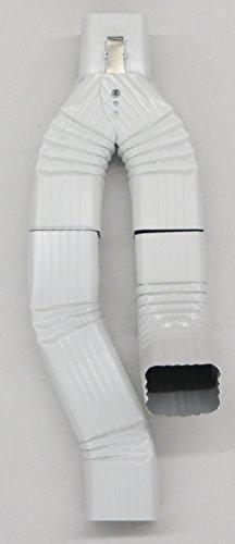 Inline Downspout Diverter for Rain Barrels 2X3 LOW GLOSS WHITE
