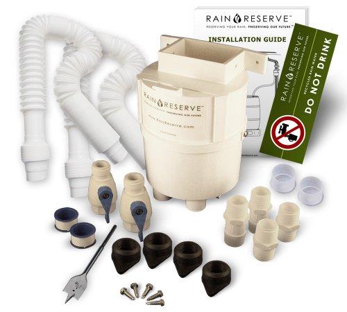 RainReserve 2012304 Rain Barrel Complete Diverter Kit double capacity Barrel Not Included