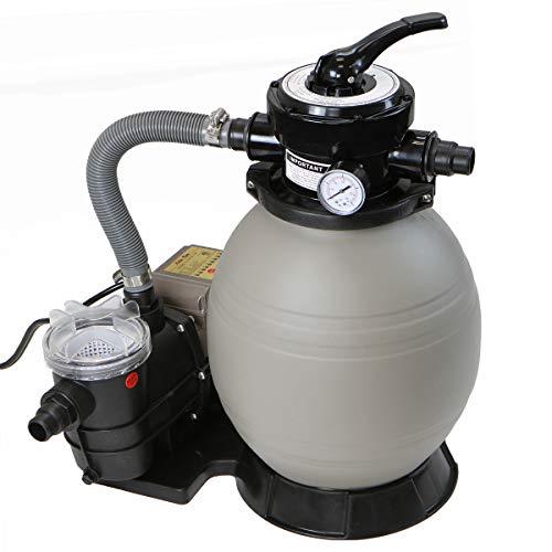 XtremepowerUS 2640GPH 13 Sand Filter w 34HP Digital Programmer Timer Above Ground Swimming Pool Pump Set