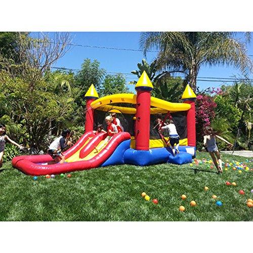 Best Seller Swimming Pool Water Slide  JumpOrange Kiddo Jump and Water Slide Fun House