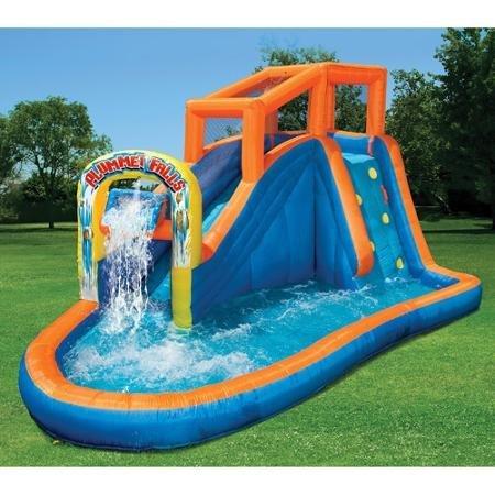 150-lb Wt Capacity Heavy-duty Dura-tech Banzai Plummet Falls Adventure Inflatable Water Slide Blower Motor With