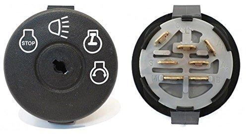 The ROP Shop Ignition Starter Key Switch fits John Deere L130 L1742 L17542 L2048 L2548 LY18