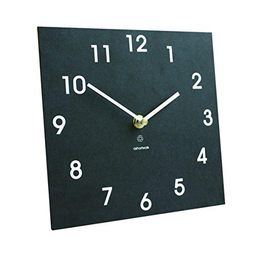 Bosmere W425 Eco IndoorOutdoor Recycled Wall Clock Black