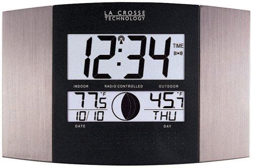 La Crosse Technology Ws-8117u-it-al Atomic Wall Clock With Indooroutdoor Temperature