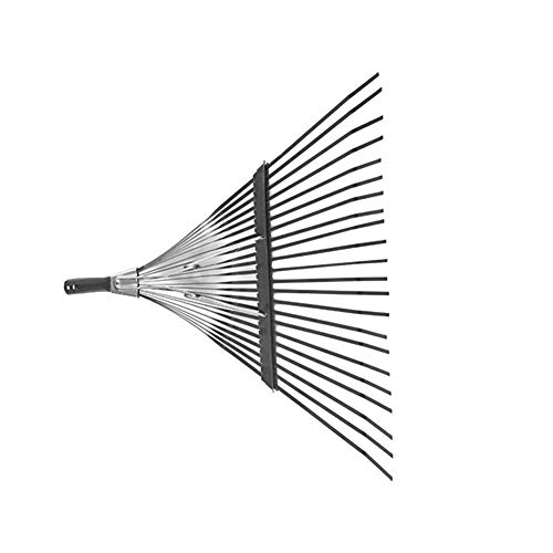 PROKTH Folding Grass Rake Head 22 Tooth Adjustable Garden Grass Rake