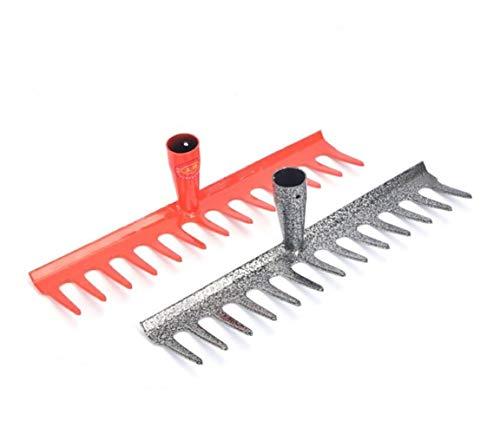Rake Rake Farm Rake Iron Rake Steel Rake Tools Gardening Tools Garden Grass Rake 13 Teeth Orange - Gray Color  Orange Size  3583cm