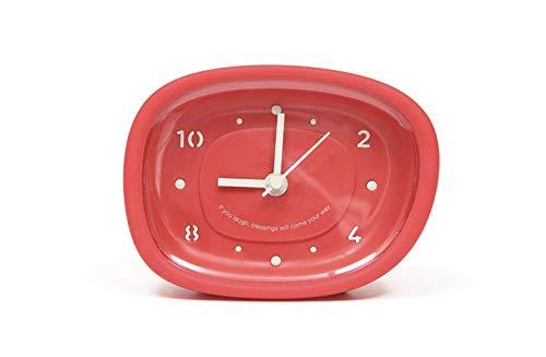 BATHCUL Pebble Bathroom Clock Shower Wall Clock Waterproof Watch Never Fall Off Noiseless Clock Red
