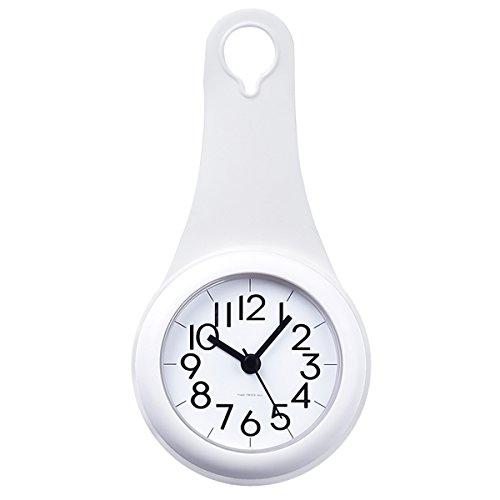 Laugh Cat Bathroom Kitchen Hanging Clock with Sucker Hooks Waterproof Silent Movement Shower Clock