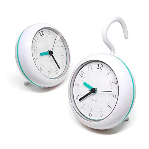 mooas Silent Waterproof Clock 3 Types Bathroom Clock Shower Clock Mint