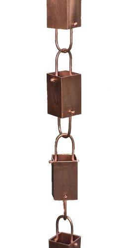 Copper Square Link Rain Chain By Rain Chains Direct 85 Ft
