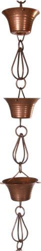 Monarch Pure Copper Mizoko Rain Chain 8-12-Feet Length