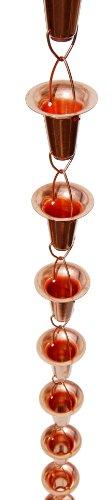 Stanwood Rain Chain Bellcup Shaped Copper Rain Chain 8-feet