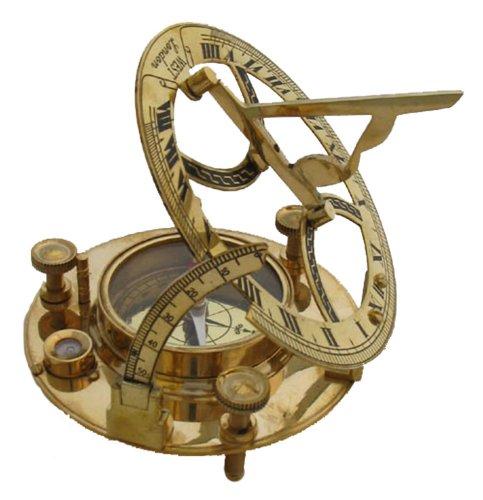 45 Brass Sun Dial Compass Sundial Clocks