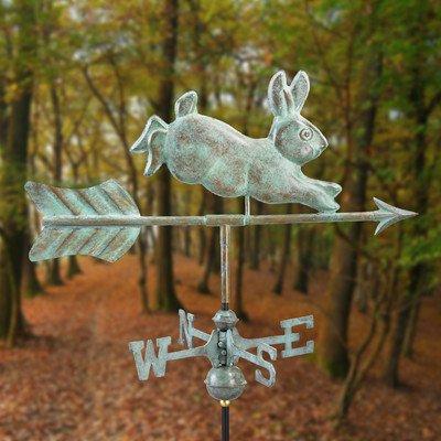 Rabbit Cottage Weathervane Mount Garden Pole