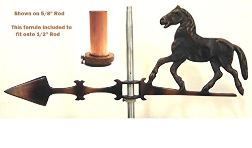 Solid Copper Horse Weathervane With Raised Body Detail- These Are Not The Cheap Flat Silhouettte - Horse Sits