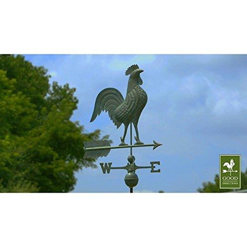 Good Directions 27&quot Rooster Weathervane Blue Verde Copper - 515v1 hj7-545mki94 G1496284