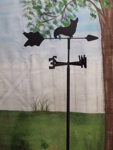 Corgi Garden Style Weathervane Wrought Iron