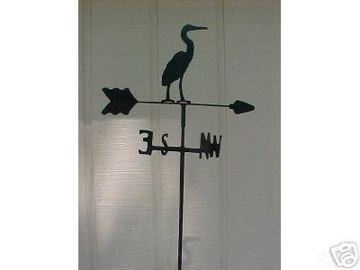 Egret Garden Style Weathervane Wrought Iron