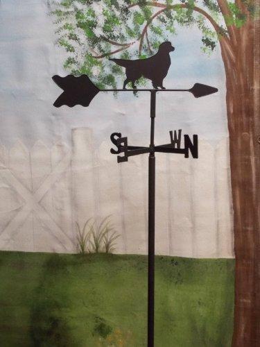 Golden Retriever Garden Style Weathervane Wrought Iron