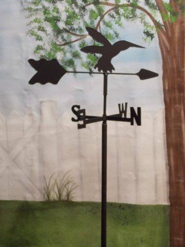 Hummingbird Garden Style Weathervane Wrought Iron