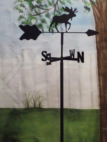 Moose Garden Style Weathervane Wrought Iron