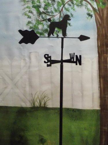 Poodle Garden Style Weathervane Wrought Iron