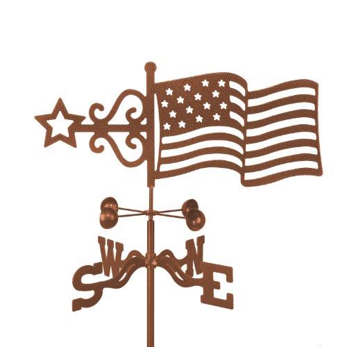 Usa Flag Roof Mount Weathervane