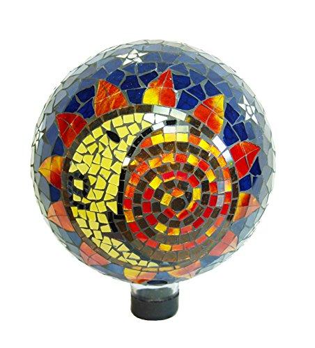 Echo Valley 8199 10-inch Mosaic Glass Gazing Globe Sun-moon