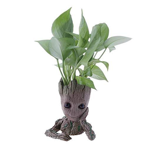 BoKa-Store - Cute Model Baby Groot Flowerpot Flower Pot Planter Action Figures Tree Man Toy Pen Pot Garden Flower Planter Pot Gifts For