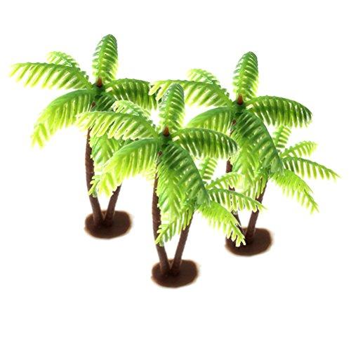 LIOOBO 3PCS Mini Coconut Palm Tree Model Craft DIY Plastic Micro Landscape