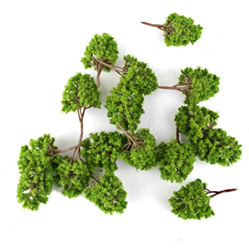 N hfjeigbeujfg Miniature Fairy Garden 45Pcs Plastic 1150 Scale Trees Model Mini Scenery Landscape Garden Ornament
