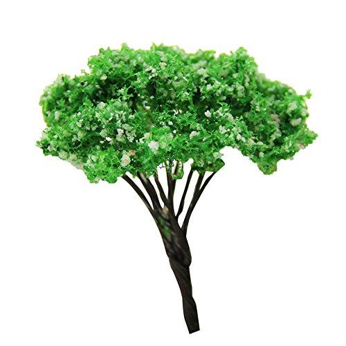 Wansan 1 Pcs Trees Miniature Fairy Garden Tree Plant Ornament Landscape DIY Craft Garden Ornament Model Railroad Scenery with No Stands
