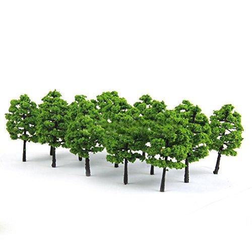 loinhgeo- Mini Vivid Natural Color 20 Model Trees Train Railroad Diorama Wargame Park Scenery Green Plants Decor