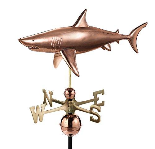 Good Directions Shark Weathervane Pure Copper
