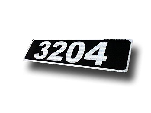 Black Horizontal Curb Mailbox House Address Plaque Reflective