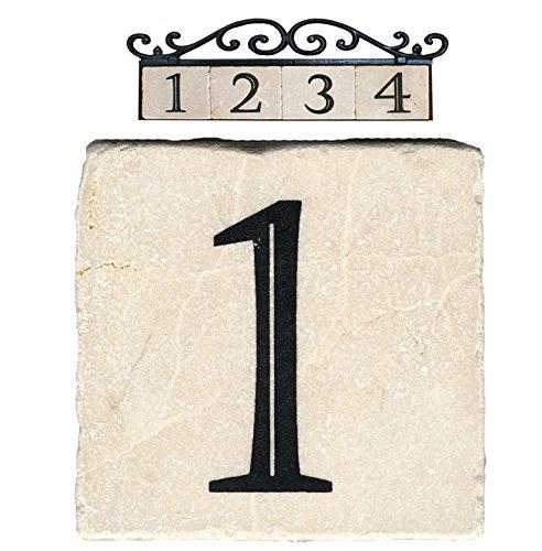 Nach Az-classic-1 Marble House Addressnumber Tile Beige