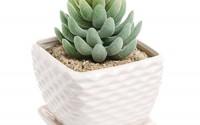 Contemporary-White-Ceramic-Succulent-Planter-Flower-Pot-W-Decorative-Wavy-Coil-Design-amp-Drainage-Plate10.jpg